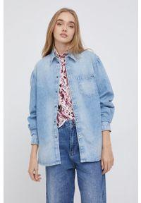 Pepe Jeans - Koszula jeansowa Valerie. Kolor: niebieski. Materiał: denim