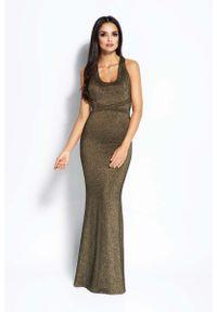 Złota sukienka na wesele Dursi