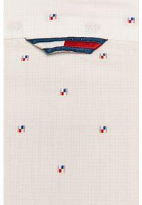 Biała koszula Tommy Jeans długa, z klasycznym kołnierzykiem, z długim rękawem