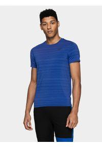 Niebieska koszulka sportowa 4f do biegania