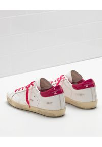 GOLDEN GOOSE - Sneakersy Superstar. Kolor: biały. Materiał: guma. Wzór: aplikacja. Obcas: na koturnie