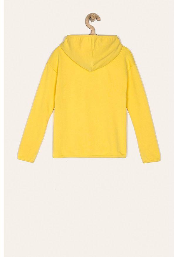 Żółta bluza Kids Only z nadrukiem, z kapturem