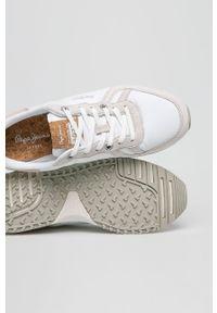 Białe sneakersy Pepe Jeans z okrągłym noskiem, z cholewką #4