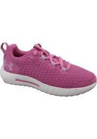 Różowe buty do biegania Under Armour w kolorowe wzory, z cholewką