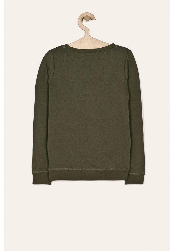 Zielona bluza Kids Only na co dzień, z okrągłym kołnierzem, casualowa