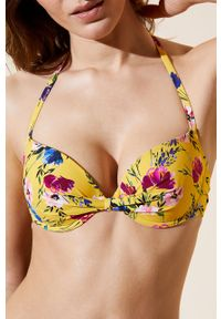 Żółty strój kąpielowy dwuczęściowy Etam z fiszbinami #4