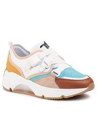 Białe buty sportowe Togoshi na co dzień, z cholewką