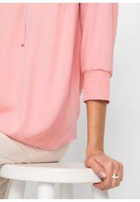 Bluzka szyfonowa z poliestru z recyklingu bonprix pastelowy jasnoróżowy. Kolor: różowy. Materiał: poliester, szyfon