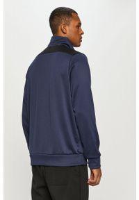 Nike Sportswear - Bluza. Okazja: na co dzień. Kolor: niebieski. Materiał: materiał. Długość: krótkie. Wzór: gładki, nadruk. Styl: casual