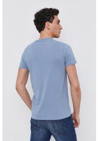 Pepe Jeans - T-shirt Original Basic 3. Kolor: fioletowy. Materiał: dzianina. Wzór: gładki