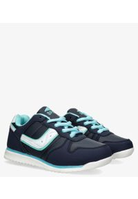 Casu - Granatowe buty sportowe sznurowane casu ld11c-10. Kolor: niebieski