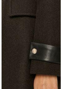 Brązowy płaszcz Morgan casualowy, z kapturem, na co dzień