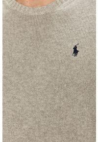 Szary sweter Polo Ralph Lauren z długim rękawem, na co dzień
