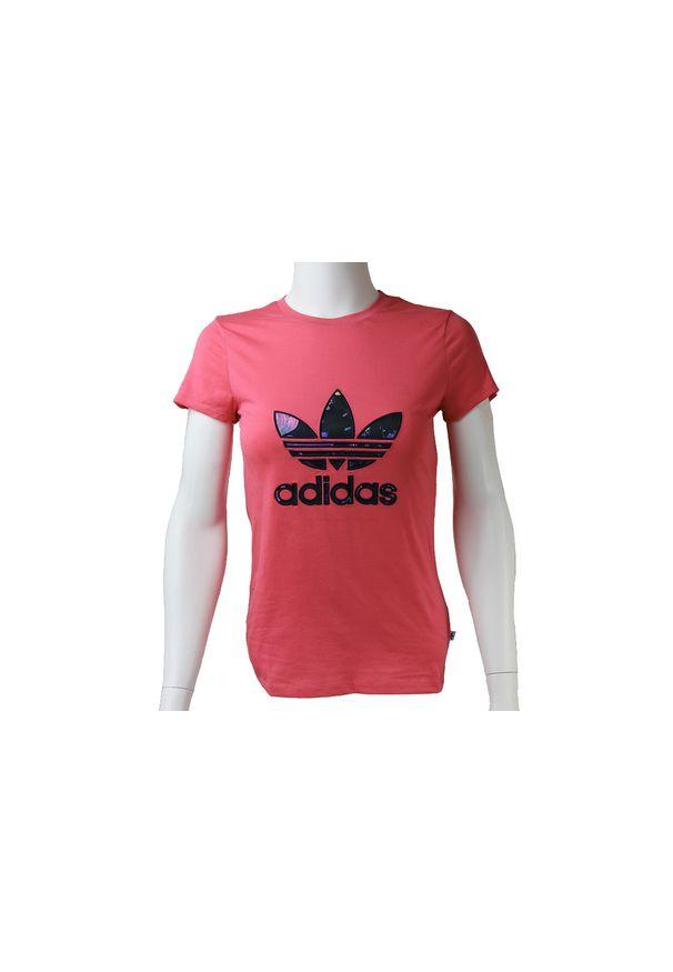 T-shirt Adidas w kolorowe wzory