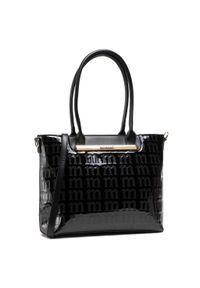 Monnari - Torebka MONNARI - BAG1990-020 Black. Kolor: czarny. Materiał: skórzane. Rodzaj torebki: na ramię
