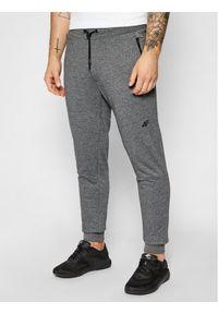 4f - 4F Spodnie dresowe H4L21-SPMD012 Szary Slim Fit. Kolor: szary. Materiał: dresówka