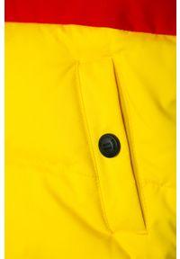 Żółta kamizelka TOMMY HILFIGER casualowa, z kapturem, na co dzień
