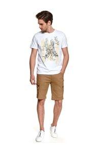 TOP SECRET - T-shirt z nadrukiem. Kolor: biały. Materiał: tkanina, bawełna. Długość rękawa: krótki rękaw. Długość: krótkie. Wzór: nadruk. Sezon: lato. Styl: wakacyjny #5