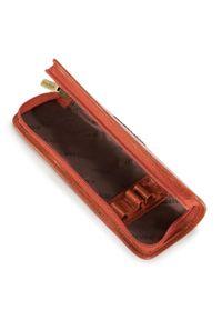 Wittchen - Etui na długopisy ze skóry lakierowanej. Kolor: pomarańczowy. Materiał: skóra, lakier