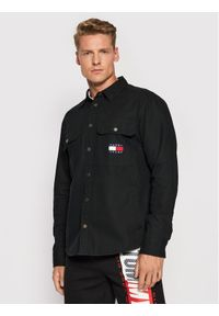 Tommy Jeans Koszula jeansowa Faded Flag DM0DM11059 Czarny Regular Fit. Kolor: czarny