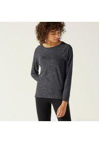 NYAMBA - Koszulka z długim rękawem fitness. Kolor: szary. Materiał: materiał, bawełna, elastan, poliester, lyocell. Długość rękawa: długi rękaw. Długość: długie. Wzór: nadruk, moro. Sport: fitness