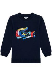 Lacoste Bluza SJ1310 Granatowy Regular Fit. Kolor: niebieski