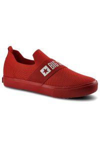 Big-Star - Tenisówki BIG STAR FF274220 Czerwony. Okazja: do pracy. Zapięcie: bez zapięcia. Kolor: czerwony. Materiał: jeans, materiał, guma. Szerokość cholewki: normalna. Wzór: napisy. Styl: sportowy