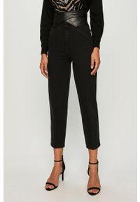 Czarne jeansy Pinko z podwyższonym stanem