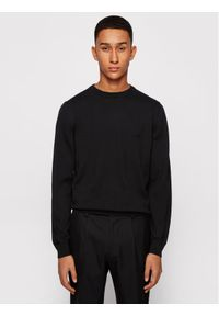 BOSS - Boss Sweter Pacas-L 50442138 Czarny Regular Fit. Kolor: czarny