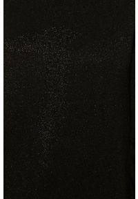 Czarna sukienka Trussardi Jeans z nadrukiem, z golfem, klasyczna