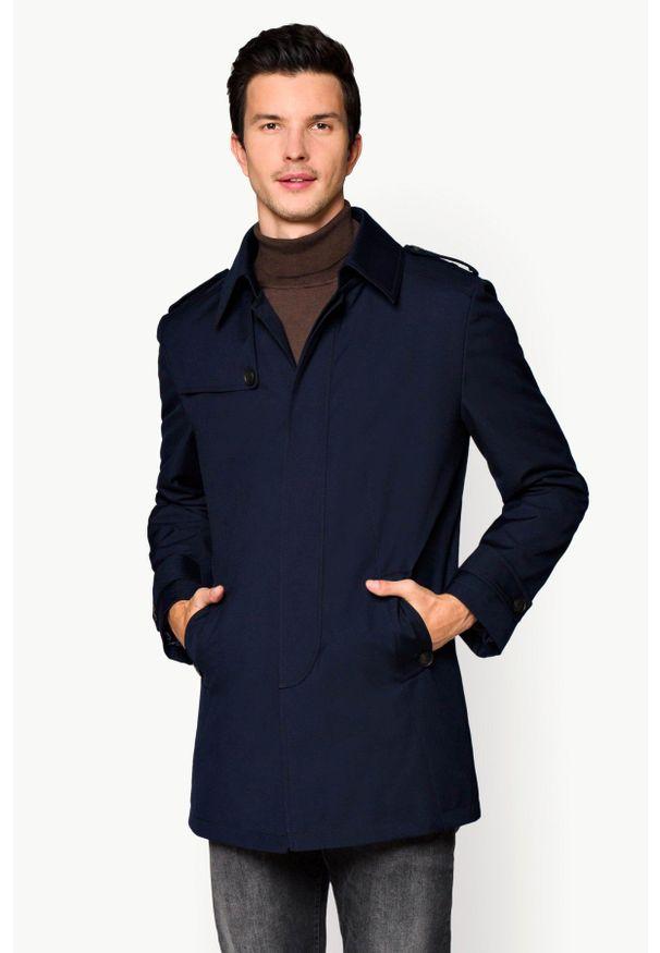 Niebieski płaszcz Lancerto do pracy, elegancki