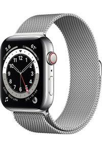APPLE - Smartwatch Apple Watch Series 6 GPS + Cellular 44mm Silver Steel Silver Milanese Srebrny (M09E3WB/A). Rodzaj zegarka: smartwatch. Kolor: srebrny