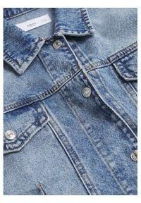 mango - Mango Kurtka jeansowa Mel 17050107 Niebieski Regular Fit. Kolor: niebieski. Materiał: jeans