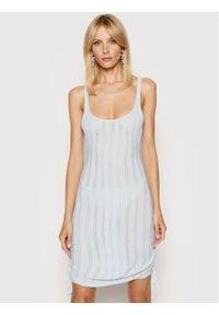 For Love & Lemons Sukienka letnia Rhea Pointelle KSP21D101 Niebieski Slim Fit. Kolor: niebieski. Sezon: lato