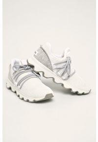Białe buty sportowe sorel na sznurówki, z cholewką