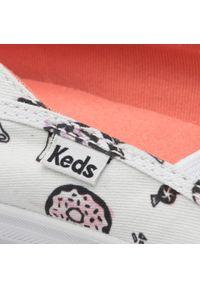 Białe półbuty casual Keds z cholewką, na płaskiej podeszwie