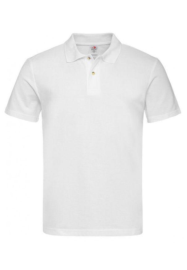 Biały t-shirt Stedman krótki, na co dzień