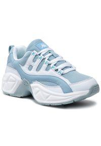 Kappa - Sneakersy KAPPA - Overton Nc 242672NC White/Ice 1065. Okazja: na co dzień. Kolor: niebieski. Materiał: skóra, materiał. Szerokość cholewki: normalna. Sezon: lato. Obcas: na płaskiej podeszwie. Styl: casual