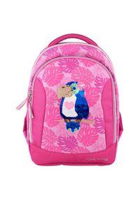 Top Model Plecak szkolny , Tukan, zmieniający się obraz z cekinami, różowy. Kolor: różowy