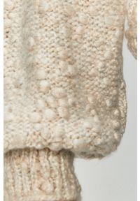 Kremowy sweter Vero Moda z długim rękawem, długi