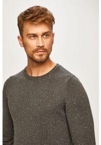 Szary sweter PRODUKT by Jack & Jones casualowy, z okrągłym kołnierzem, na co dzień