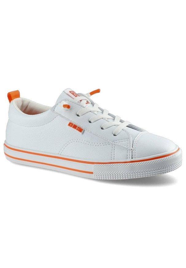Big-Star - Trampki BIG STAR HH374036 Biały/Pomarańczowy. Kolor: biały, wielokolorowy, pomarańczowy