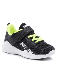 Bartek - Sneakersy BARTEK - 15208004 Czarny/Zielone. Okazja: na spacer. Zapięcie: rzepy. Kolor: czarny. Materiał: skóra ekologiczna, materiał. Szerokość cholewki: normalna