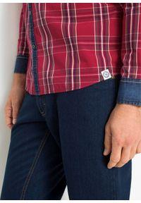 Czerwona koszula bonprix długa, z aplikacjami, z długim rękawem