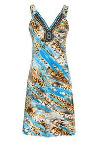 Niebieska sukienka bonprix na lato