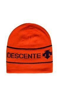 Czerwona czapka Descente retro, na zimę