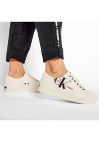Beżowe trampki Calvin Klein Jeans