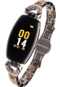 Srebrny zegarek Garett Electronics smartwatch