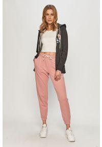 Różowe spodnie dresowe GAP z nadrukiem