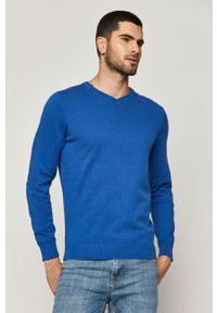 Niebieski sweter medicine długi, casualowy, na co dzień